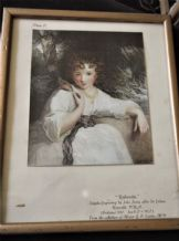 FRAMED GLAZED TINTED PRINT PLATE II ROBINETTA JOHN JONES AFTER REYNOLDS 1787